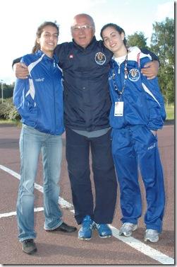 Η Μαρία Βομβύλα και η Κατερίνα Χειμωνέττου με τον Θανάση Παπαγεωργίου στα πρόσφατα Island Games